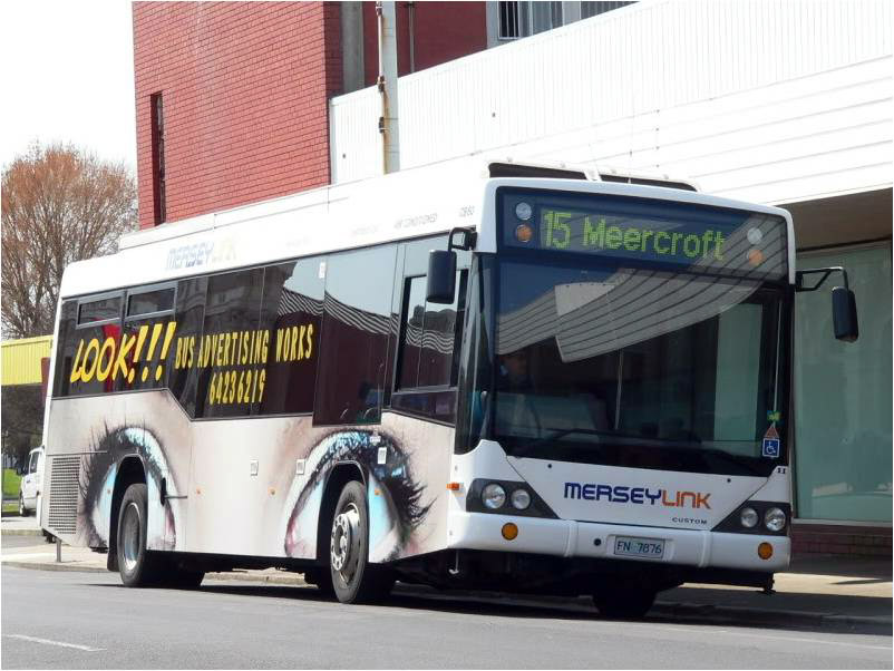 bus advertising devonport Tasmania