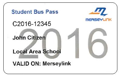 Merseylink student Bus Pas